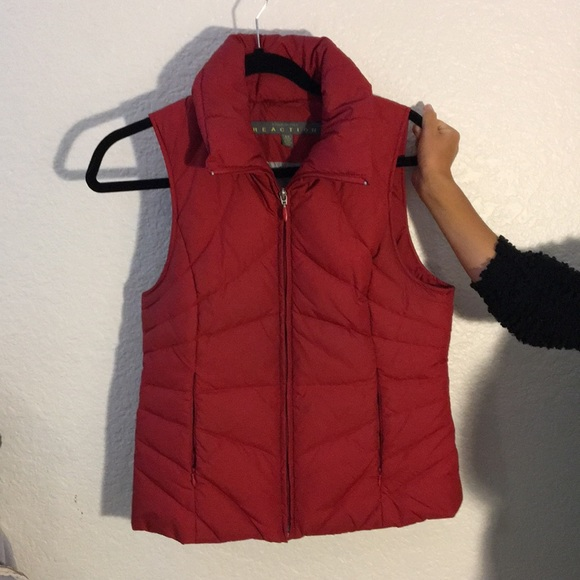 Kenneth Cole Jackets & Blazers - Red down vest by Kenneth Cole
